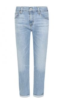 Укороченные брюки с потертостями и отворотами Ag