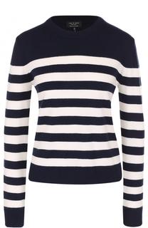 Кашемировый пуловер прямого кроя в контрастную полоску Rag&Bone Rag&Bone