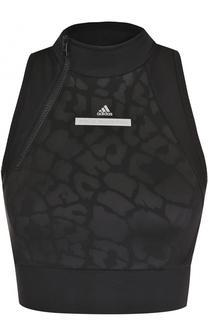 Спортивный кроп-топ с воротником-стойкой Adidas by Stella McCartney