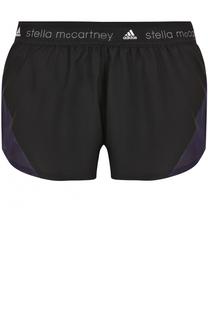 Спортивные мини-шорты с перфорацией Adidas by Stella McCartney