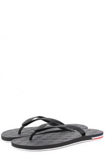 Резиновые шлепанцы с логотипом бренда Moncler