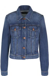 Джинсовая куртка с потертостями J Brand
