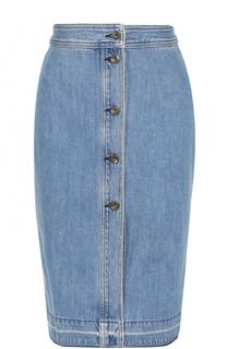 Джинсовая юбка-миди с потертостями Rag&Bone Rag&Bone