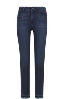 Укороченные джинсы-скинни с необработанным краем Paige