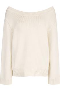 Вязаный пуловер свободного кроя с круглым вырезом The Row