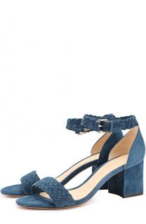 Замшевые босоножки на устойчивом каблуке Alexandre Birman