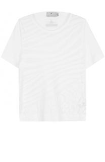 Спортивная футболка со звериным принтом Adidas by Stella McCartney