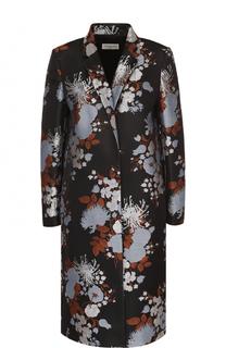 Пальто прямого кроя с цветочным принтом Dries Van Noten