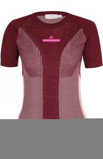 Спортивный вязаный топ с коротким рукавом Adidas by Stella McCartney