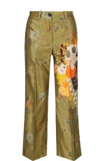 Укороченные расклешенные брюки с принтом Dries Van Noten