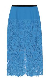 Кружевная юбка-миди с пайетками Dries Van Noten