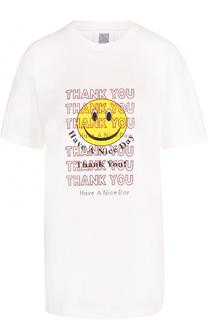 Удлиненная футболка прямого кроя с принтом Rosie Assoulin