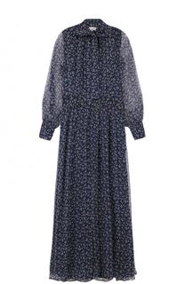 Шелковое платье с воротником аскот Paul&Joe Paul&Joe