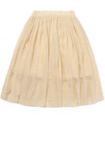 Пышная юбка с эластичным поясом и метализированным принтом Stella McCartney