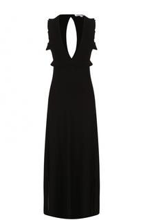 Платье-макси с V-образным вырезом Elizabeth and James