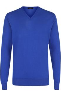 Хлопковый пуловер тонкой вязки TSUM Collection