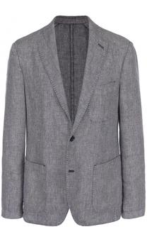 Однобортный льняной пиджак 120% Lino