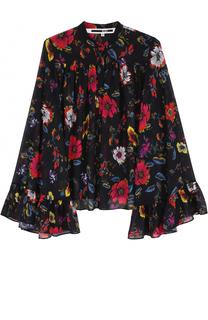 Блуза свободного кроя с оборками и цветочным принтом MCQ