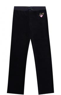 Спортивные брюки свободного кроя с вышивкой Juicy Couture