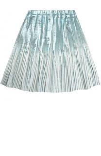 Плисированная юбка с метализированной отделкой Marc Jacobs