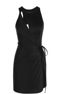 Мини-платье с запахом и открытой спиной Alexander Wang