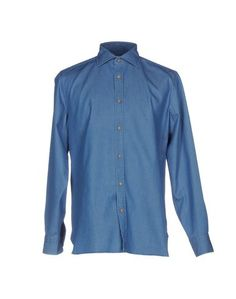 Джинсовая рубашка Luigi Borrelli Napoli
