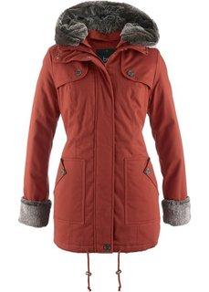 Зимняя куртка с меховой отделкой (кирпично-красный) Bonprix