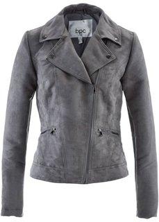 Куртка из материала под замшу (дымчато-серый) Bonprix