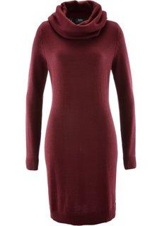 Вязаное платье с высоким воротом (темно-бордовый) Bonprix