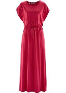 Макси-платье с фантазийным принтом (красный) Bonprix