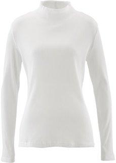 Водолазка в резинку (цвет белой шерсти) Bonprix