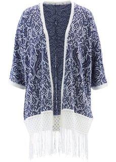 Кардиган дизайна Maite Kelly с рукавом 3/4 (ночная синь/цвет белой шерсти с узором) Bonprix