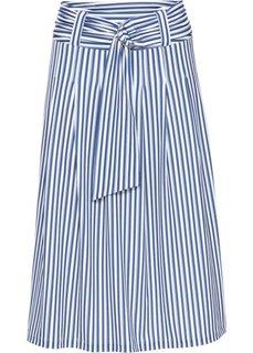 Юбка с ремнем (кремовый/синий в полоску) Bonprix