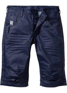Удлиненные джинсовые бермуды Loose Fit (темно-синий) Bonprix