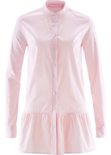 Блузка с баской дизайна Maite Kelly (розовая пудра/белый в полоску) Bonprix