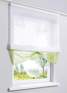 Римская штора Камилла, Шина с лентой велкро (белый/зеленый) Bonprix