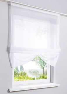 Римская штора Камилла, Шина с лентой велкро (белый) Bonprix