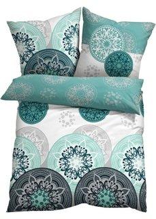 Постельное белье Миа, линон (сине-зеленый/мятный) Bonprix