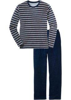 Мужская пижама никки (темно-синий/серый) Bonprix