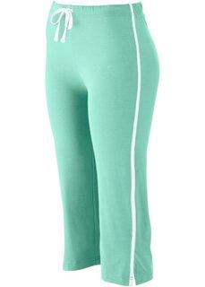Спортивные брюки капри с эффектом стретч (ментоловый) Bonprix