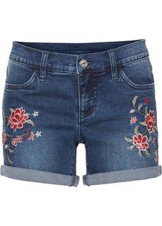 Джинсовые шорты с вышивкой (синий «потертый») Bonprix