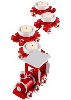 Подсвечник Рождественский поезд (5 изд.) (красный/белый) Bonprix