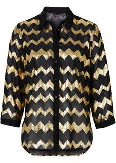 Блестящая блузка (черный/золотистый) Bonprix