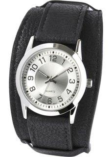 Наручные часы с широким браслетом (черный) Bonprix