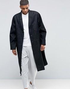 Джинсовое пальто темно-синего оттенка ASOS - Синий