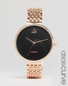Часы с крупным циферблатом ASOS CURVE - Медный