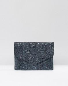 Клатч-конверт с блестками ASOS - Мульти