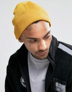 Шапка-бини горчичного цвета 7X - Желтый