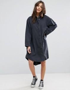 Свободное джинсовое платье-рубашка Waven Sigvor - Черный