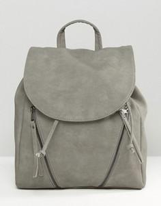Рюкзак с двумя молниями Pieces - Серый